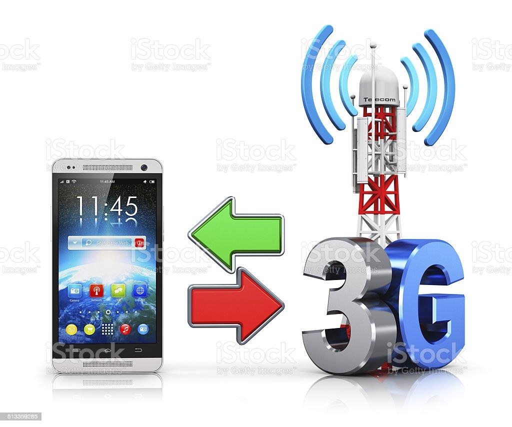 3G wireless communication concept stock photo
