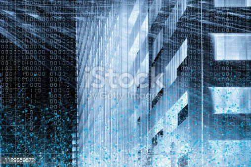 istock Wireless Communication Network Background 1129659872