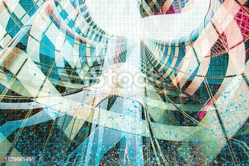istock Wireless Communication Network Background 1129661491