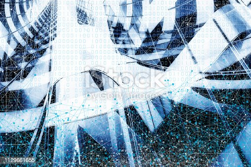 istock Wireless Communication Network Background 1129661655