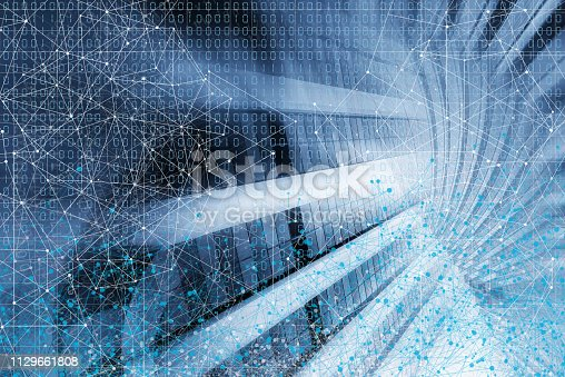 istock Wireless Communication Network Background 1129661808