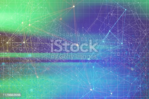istock Wireless Communication Network Background 1129663556