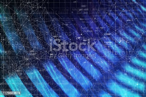 istock Wireless Communication Network Background 1129663874