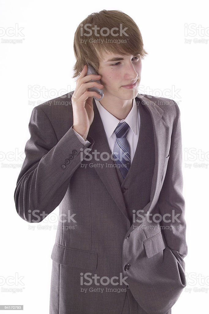 Wireless Conversation royalty-free stock photo