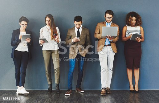 858111468 istock photo Wireless entertainment for the wait 858111446