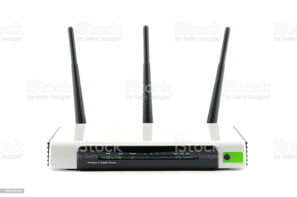 Wireless gigabit broadband router stock photo