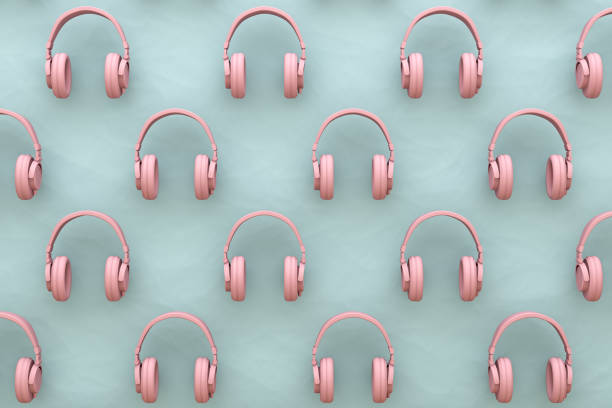 Funkkopfhörer Hintergrund, minimale Konzept. – Foto