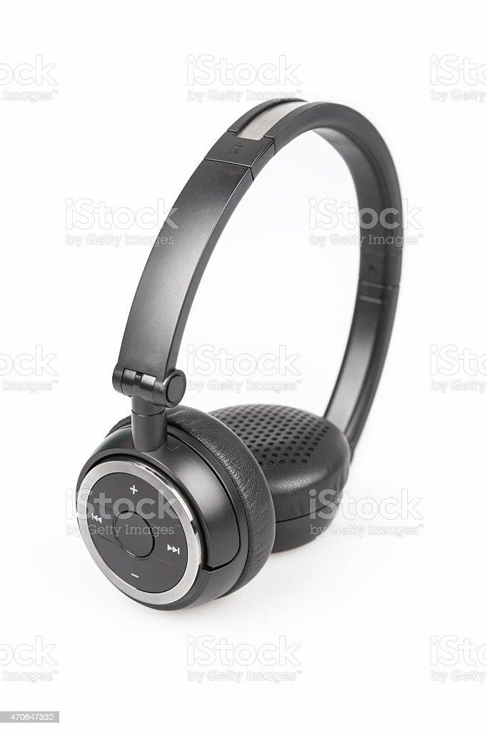 wireless headphones isolated stock photo