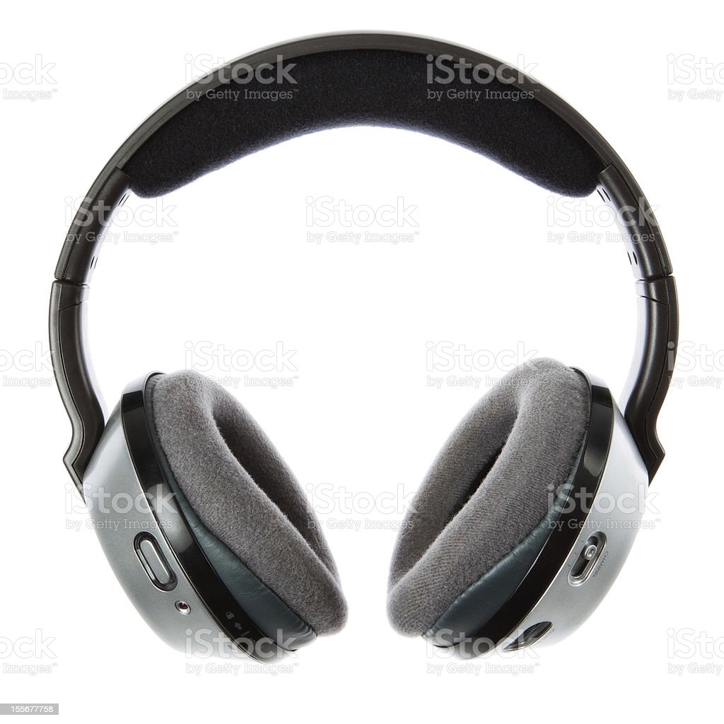 Wireless headphones on a white background. royalty-free stock photo