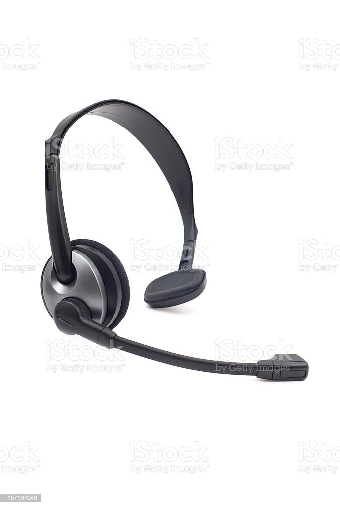 Wireless Headset stock photo
