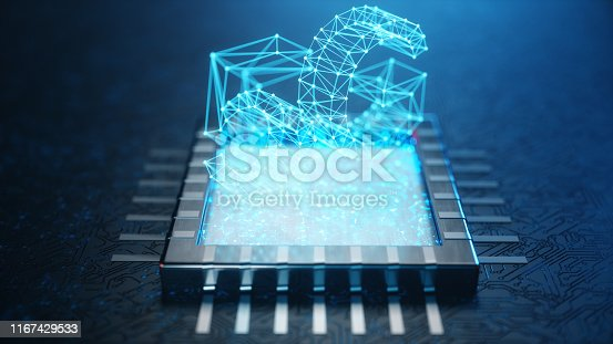 istock 5G wireless high-speed mobile Internet. Technology concept. High speed internet. Concept smartphone internet connection technology on circuit board. Abstract internet connection. 3D Illustration 1167429533