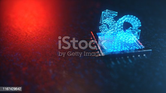 istock 5G wireless high-speed mobile Internet. Technology concept. High speed internet. Concept smartphone internet connection technology on circuit board. Abstract internet connection. 3D Illustration 1167429542