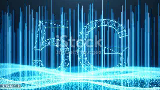 istock 5G wireless high-speed mobile Internet. Technology concept. High speed internet. Concept smartphone internet connection technology. Abstract illustration internet connection. 3D Illustration 1167437138