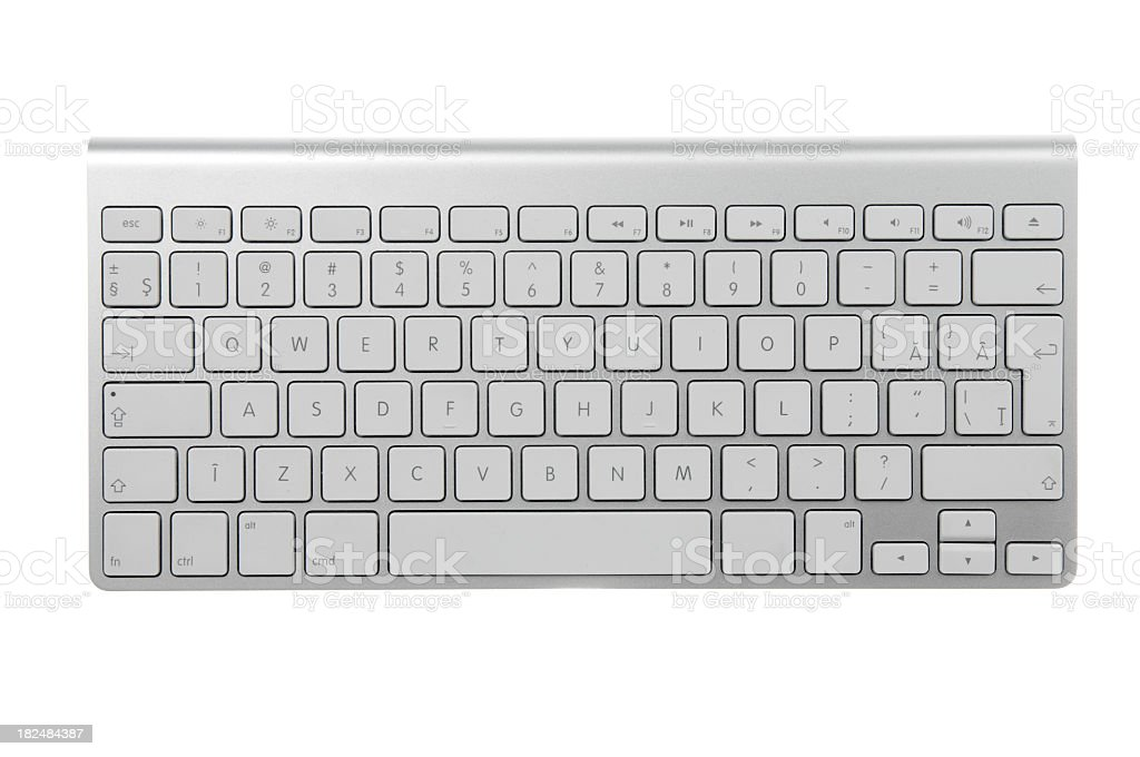 Wireless keyboard stock photo