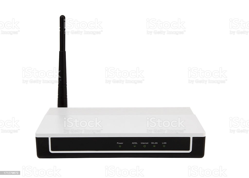 Wireless Modem Router+Clipping Path stock photo