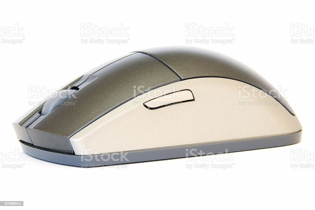 Wireless mouse isolated on white background royalty-free stock photo