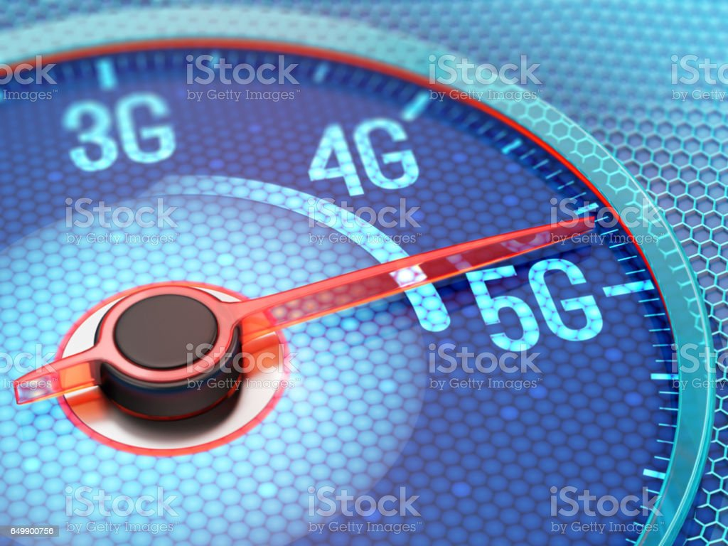 5G wireless network stock photo