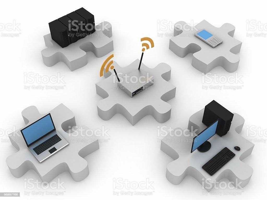 Wireless Network royalty-free stock photo