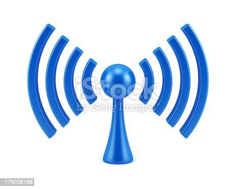 istock Wireless network sign 179208188