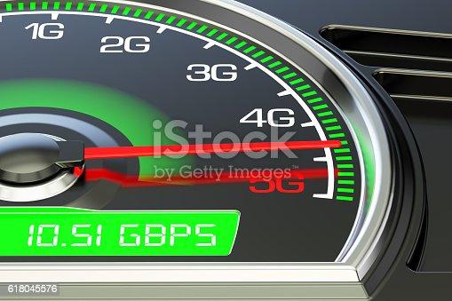 istock Wireless network speed evolution concept, 3D rendering 618045576
