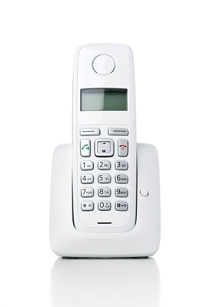 Wireless phone on white background Wireless phone on white background cordless phone stock pictures, royalty-free photos & images