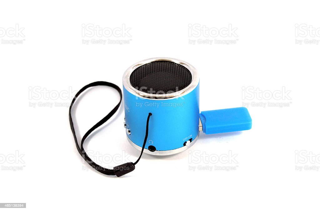wireless portable loudspeaker stock photo