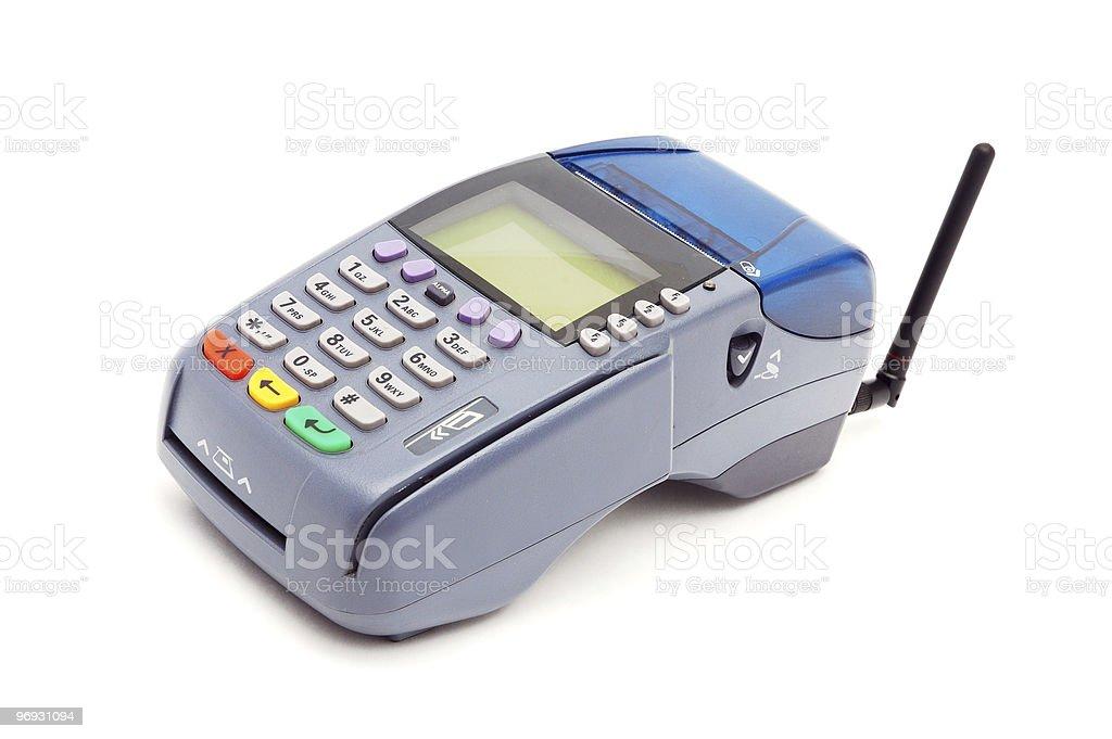 Wireless POS-terminal royalty-free stock photo