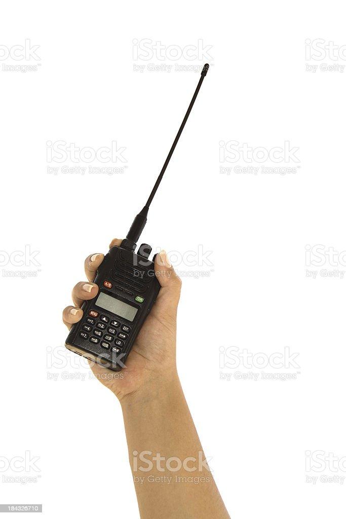 Wireless radio - walkie talkie stock photo