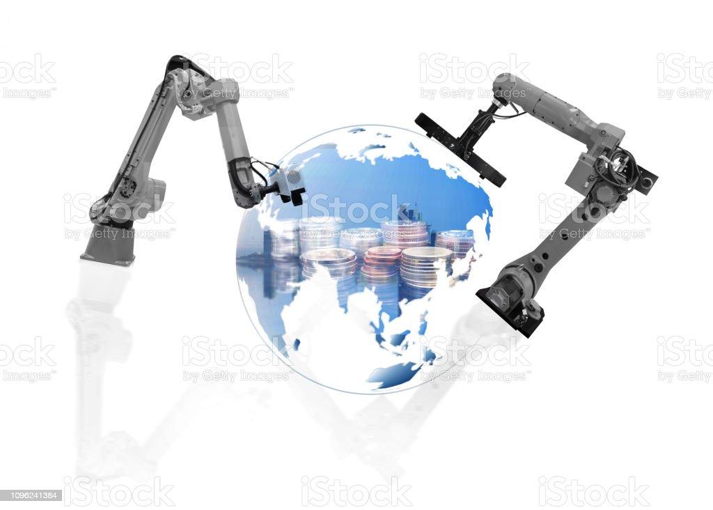 wireless Robot arm stock photo