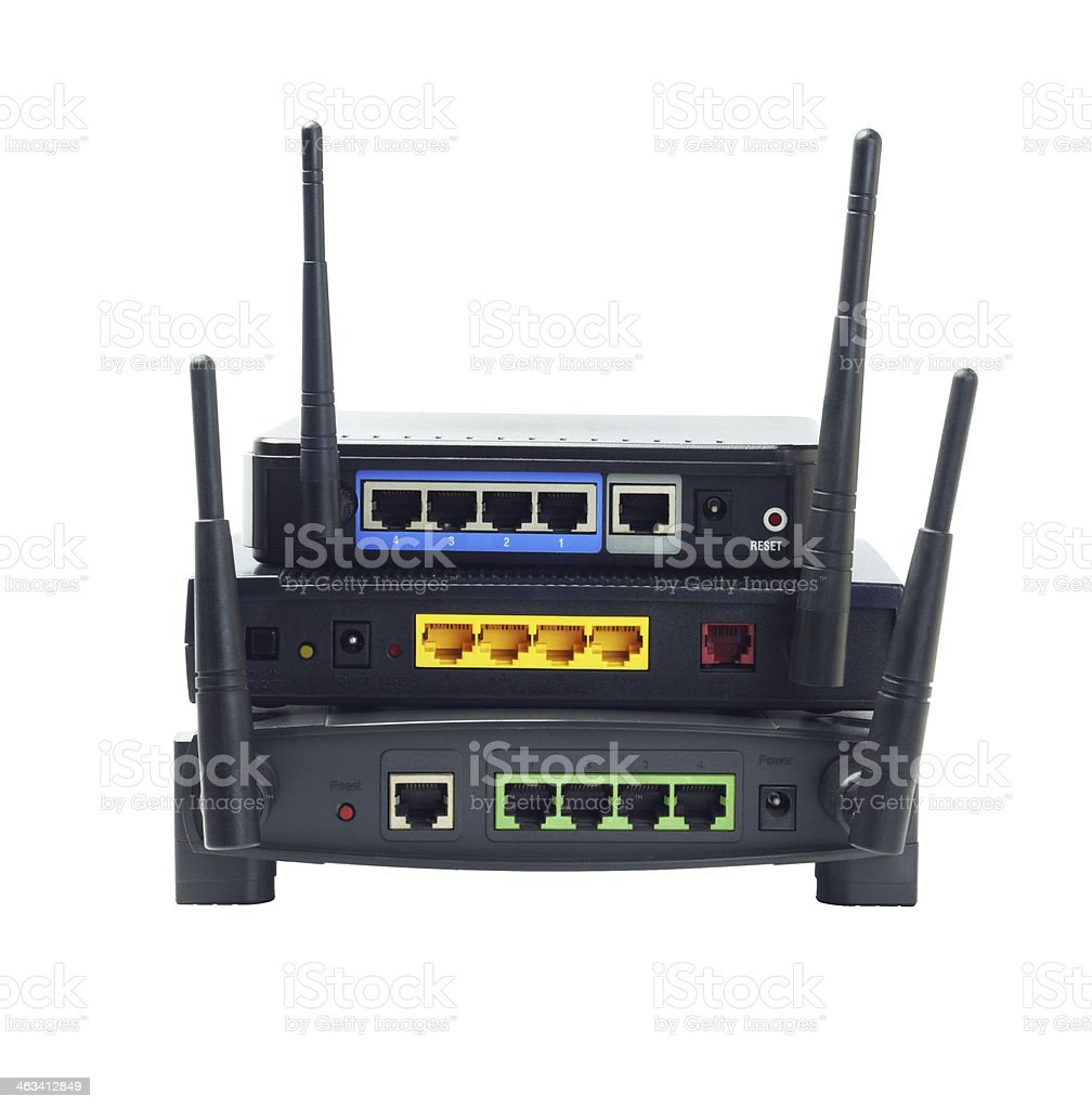 Wireless Routers stock photo