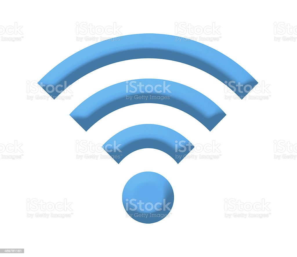 wireless sign stock photo