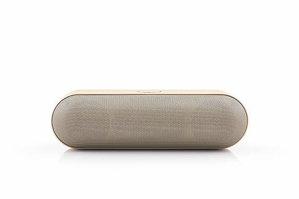 Wireless speaker for mobile phone, Bluetooth Speaker for smartphone. stock photo