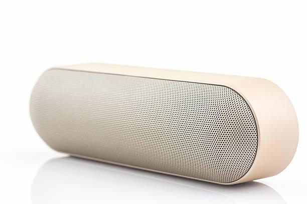 Wireless speaker for mobile phone, Speaker for smartphone. stock photo