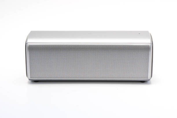 Wireless speaker on white background - The speaker technology stock photo