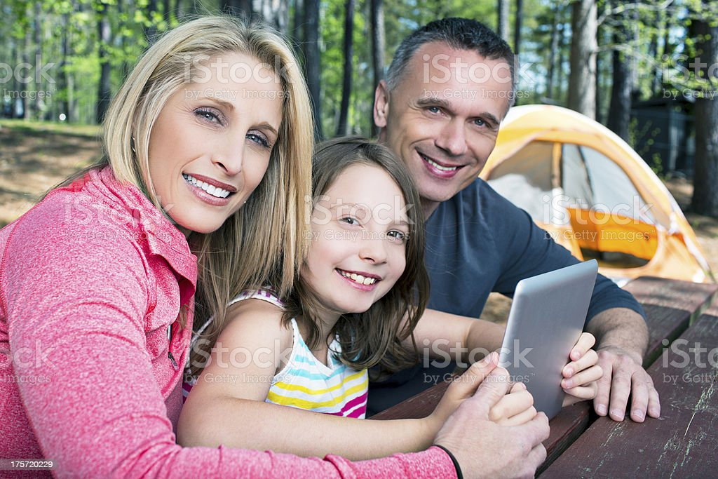 Wireless Technologies in the camping royalty-free stock photo