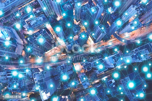 861165648 istock photo Wireless technology, Internet of things concept, Smart city connected by intelligence network, Abstract visual futuristic background 1220661816