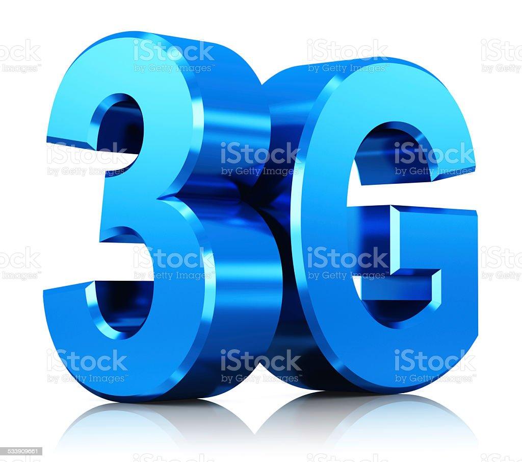 3G wireless technology logo stock photo