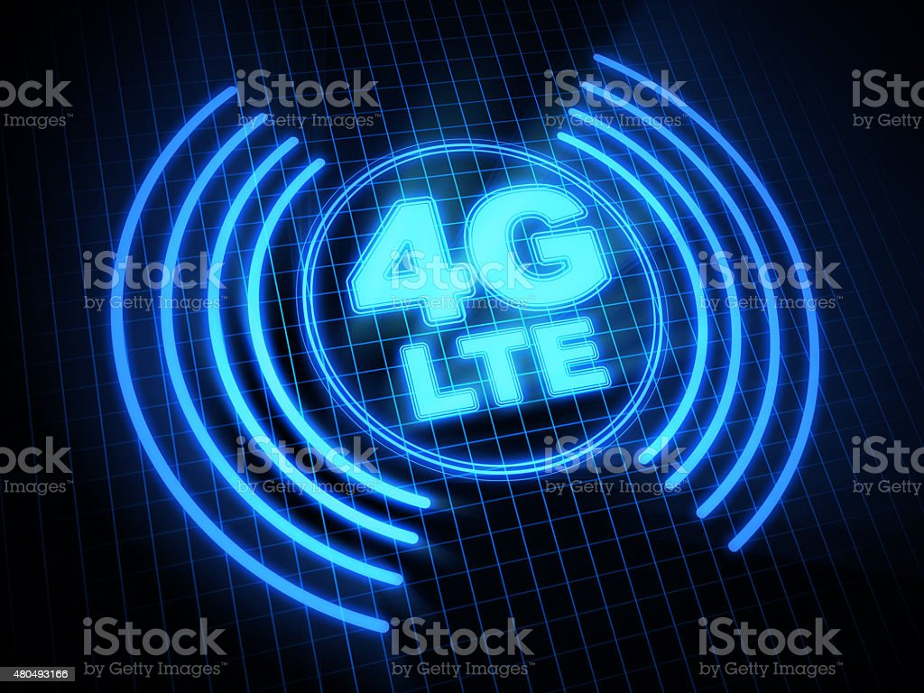 4G LTE Wireless Technology stock photo