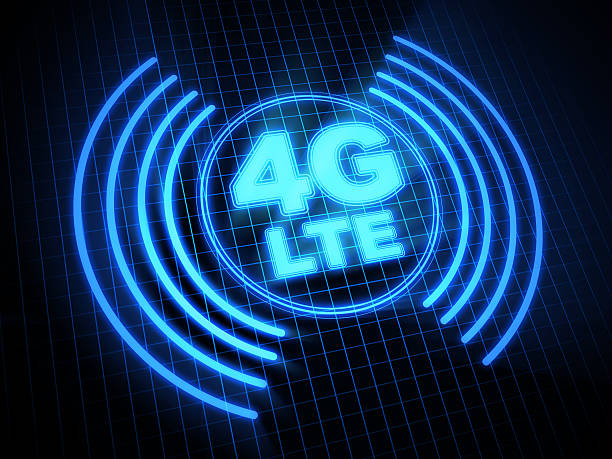 tecnologia wireless 4 g lte - 4g foto e immagini stock