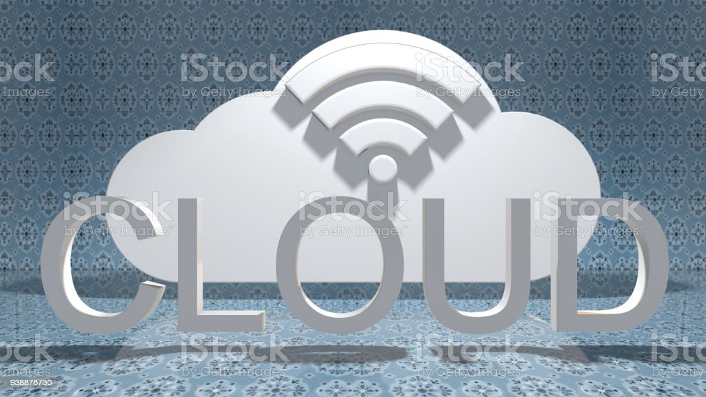 Wireless wifi dig data cloud computing IoT online storage technology stock photo