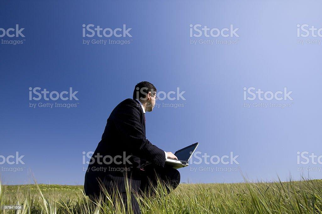 Wireless work royalty-free stock photo