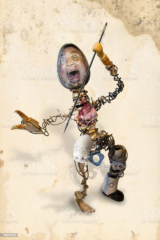 Wireman with clipping path royalty-free stock photo