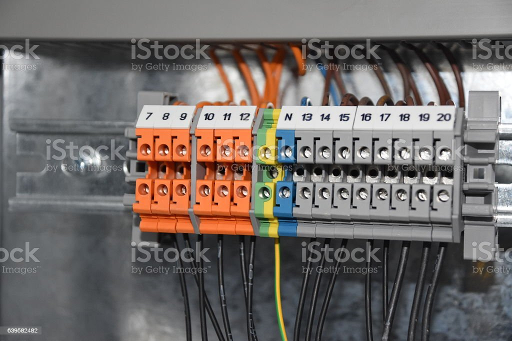 Wires And Industrial Electrical Control Panel Stock Photo & More ...
