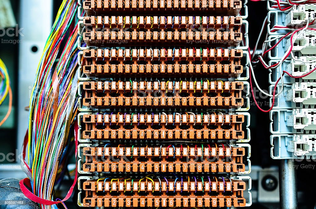telephone wiring equipment smart wiring diagrams \u2022 telephone wiring connections wires between circuit board at telephone exchange stock photo more rh istockphoto com telephone wiring basics