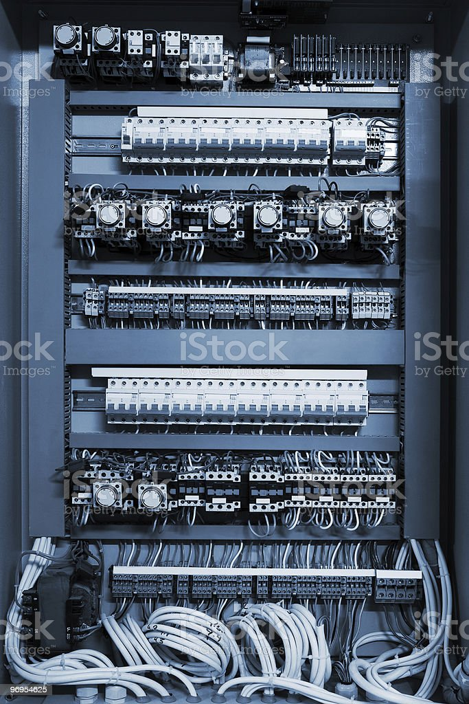 wires in a box royalty-free stock photo