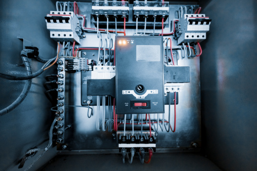 Prewiring of an electrical circuit box of  modern building.  adobe rgb 1998 use.