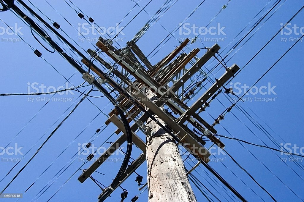 X wires royalty-free stock photo