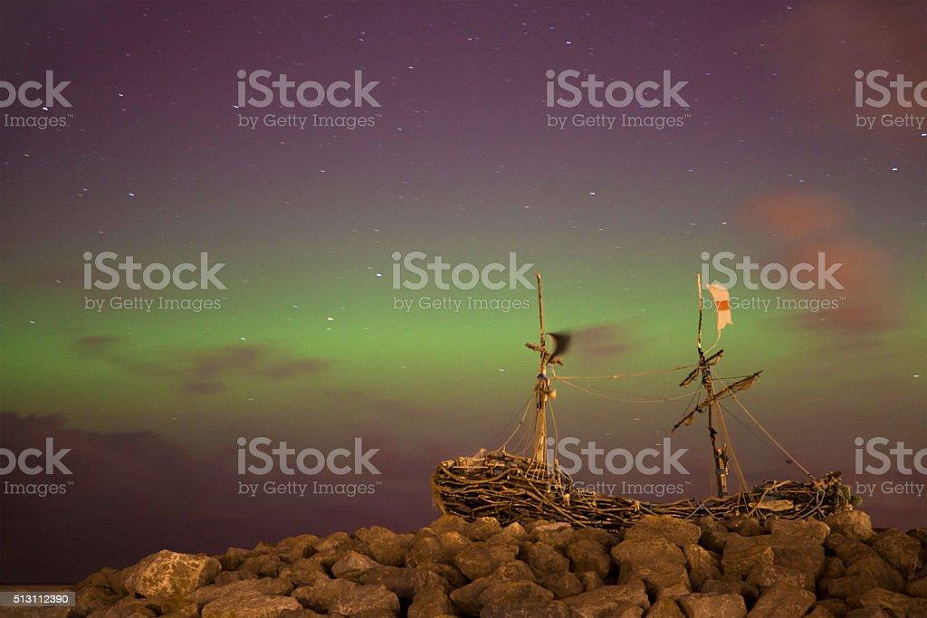 Wirral Aurora stock photo
