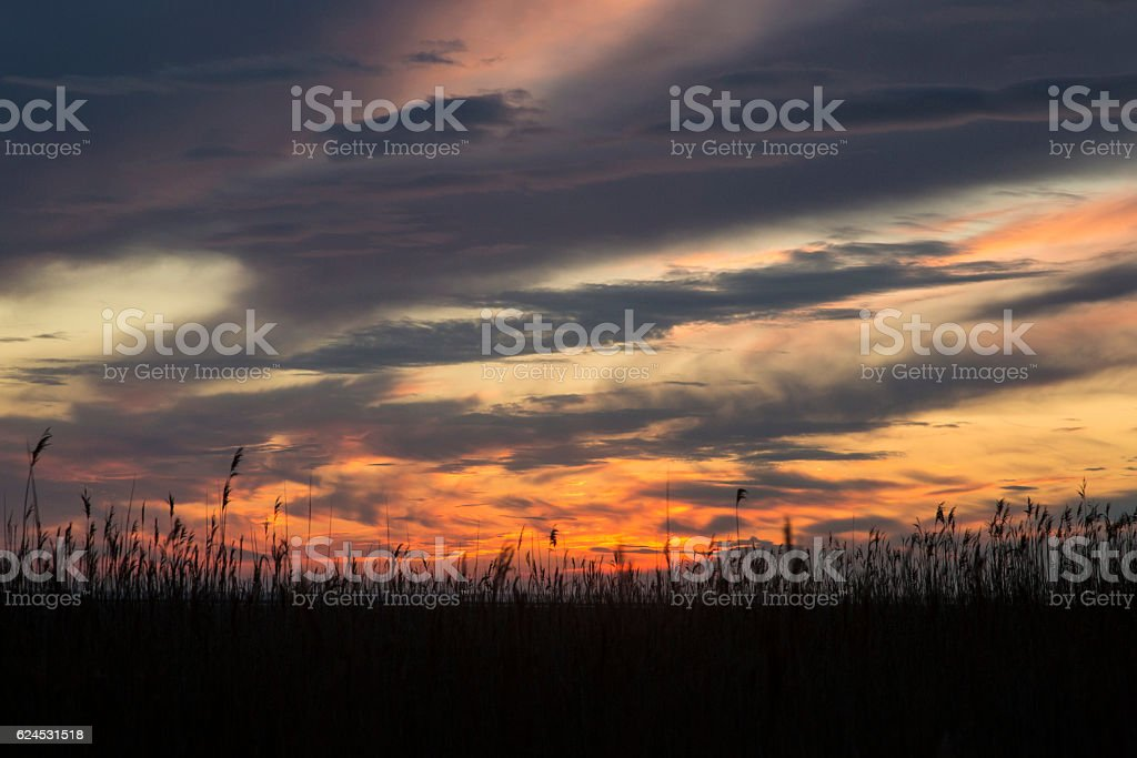 Wirral Sunset stock photo