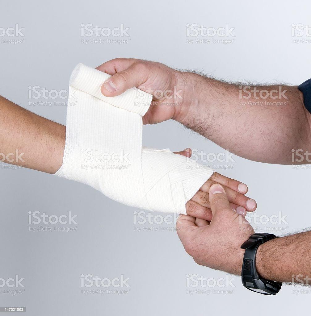 Wirst Bandage royalty-free stock photo